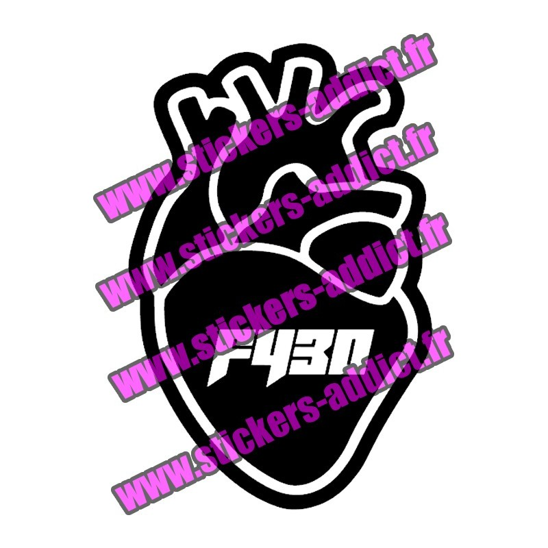 Stickers PNL Coeur F430