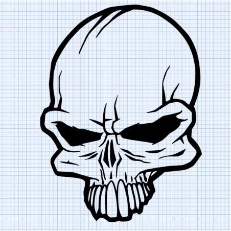 Stickers Tete de Mort 3