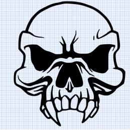 Stickers Tete de Mort 8