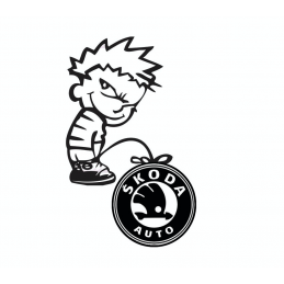 Stickers Calvin Fuck Skoda
