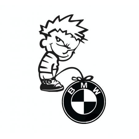 Stickers Calvin Fuck BMW