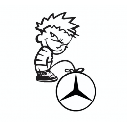 Stickers Calvin Fuck Mercedes
