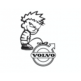 Stickers Calvin Fuck Volvo