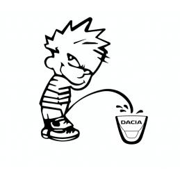 Stickers Calvin Fuck DACIA