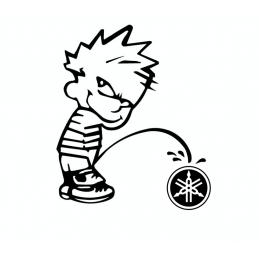 Stickers Calvin Fuck yamaha