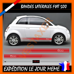 2 bandes Latérales Fiat 500 Sport