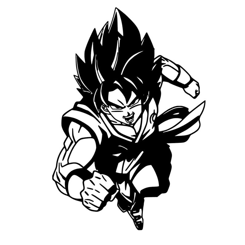 Stickers San Goku Saiyan Dragon Ball