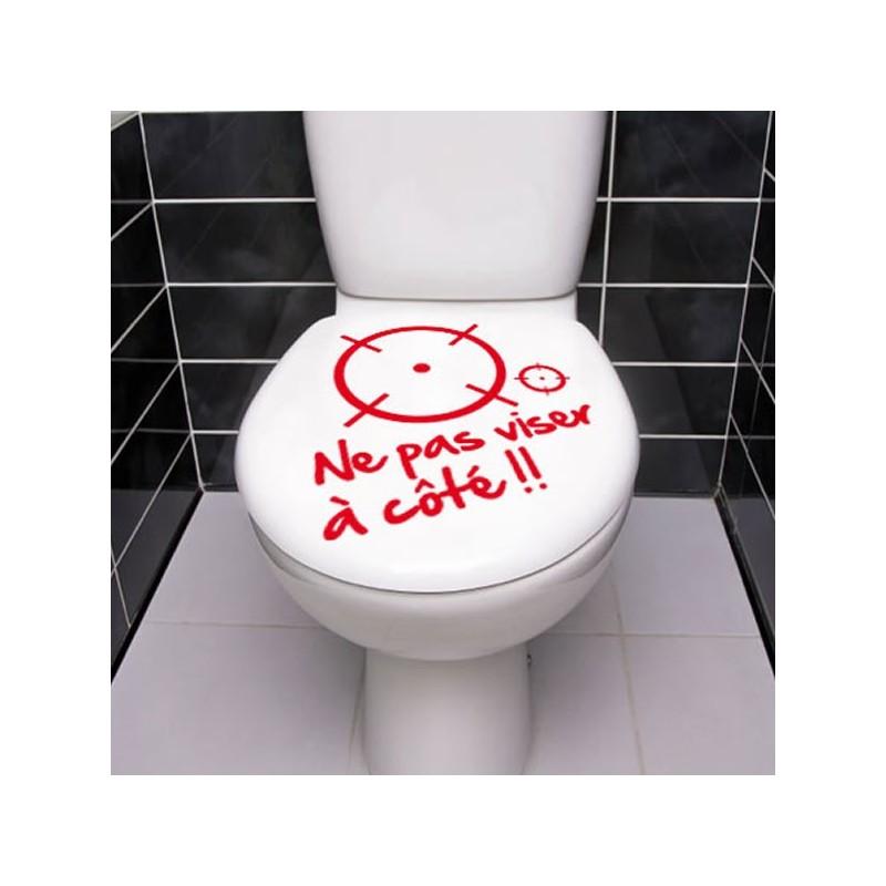 Stickers WC Ne pas visé à coté