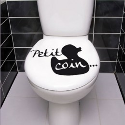 Stickers WC petit coin