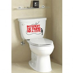 Stickers Toilette WC Interdit de faire pipi