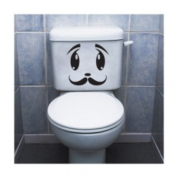 Stickers toilette WC Tête 4