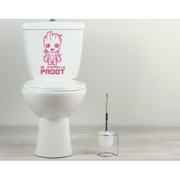 Sticker toilette wc Je s'appelle proot