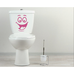 Sticker toilette wc smile
