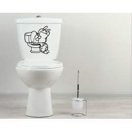 Sticker toilette wc