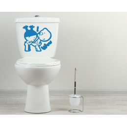 Sticker toilette wc Wow