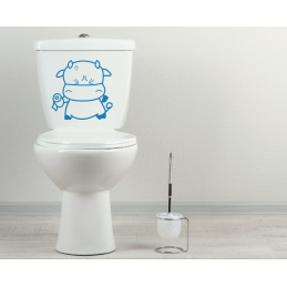 Sticker toilette wc vache