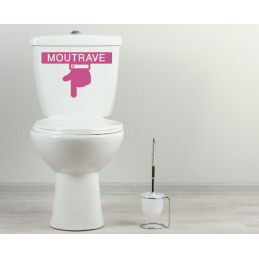 Sticker toilette wc MOUTRAVE