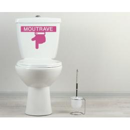 Sticker toilette wc MOUTRAVE