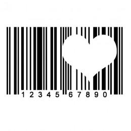 Stickers Code Barre Coeur