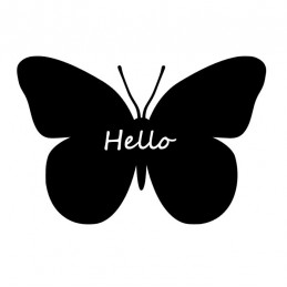 Stickers Papillon Hello