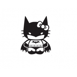 Stickers Hello-Kitty Batman