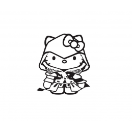 Stickers Hello-Kitty Assasin Creed