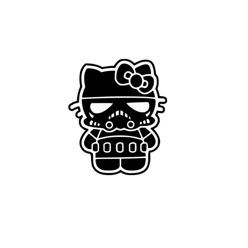 Stickers Hello-Kitty Trooper