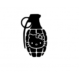 Stickers Hello-Kitty Grenade