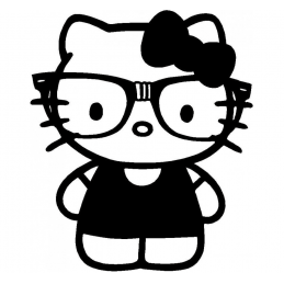 Stickers Hello-Kitty Bimbo
