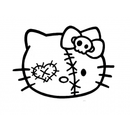 Stickers Hello-Kitty Zombie