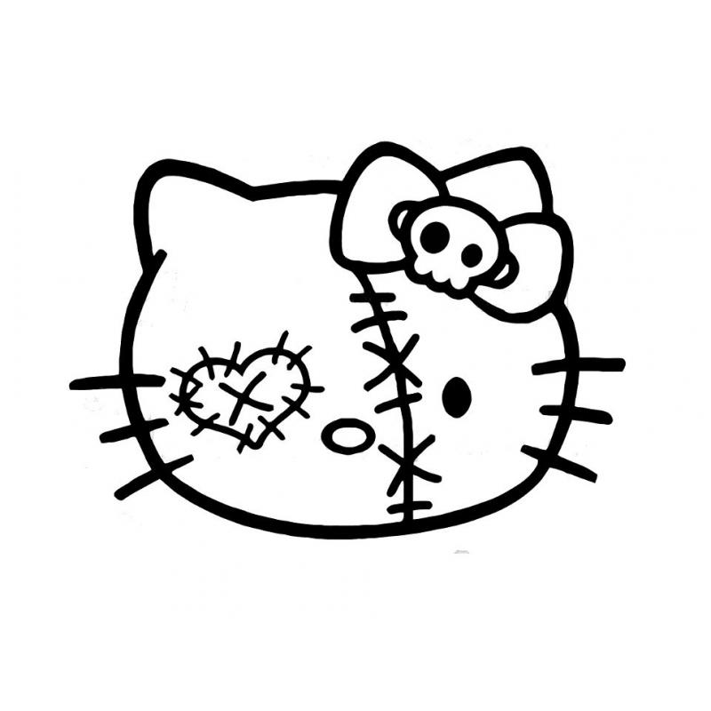 Stickers Hello-Kitty Zombie
