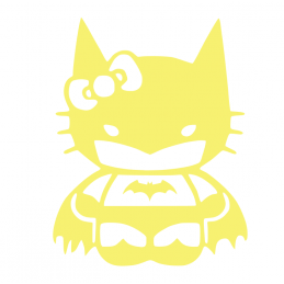 Sticker Hello-Kitty Batman