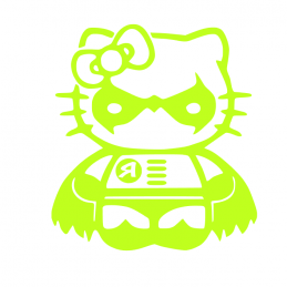 Sticker Hello-Kitty Robin