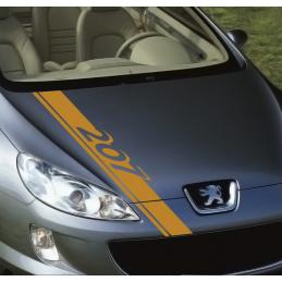 bandes Capot Peugeot 207