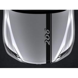 bandes Capot Peugeot 206