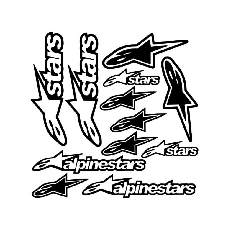 Planche 12 Stickers AlpineStars