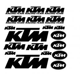 Planche Kit de 19 Stickers KTM