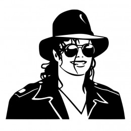 Stickers Mickael Jackson protrait