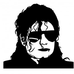 Stickers Mickael Jackson portrait