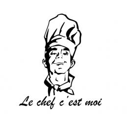 Stickers cuisine Le Chef C'est Moi
