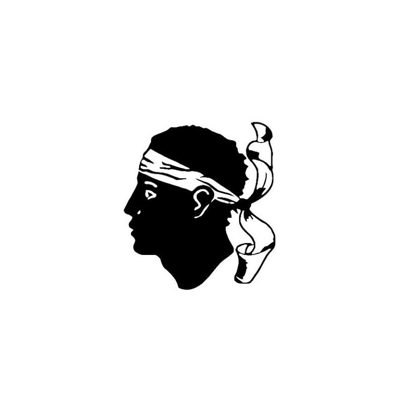 Stickers Tête Corse
