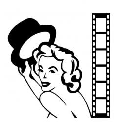 Sticker Pin Up Cinéma