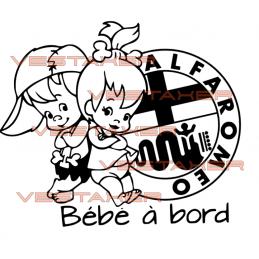 Bébé à Bord Alfa Roméo fille