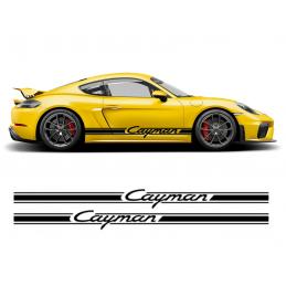 Bandes latérales Porsche Cayman