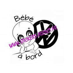 Bébé à Bord Volkswagen 3
