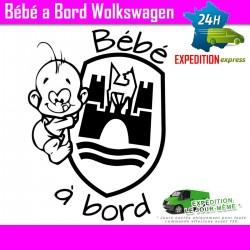 Bébé à Bord Volkswagen 4
