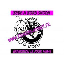 Bébé à Bord Skoda 2