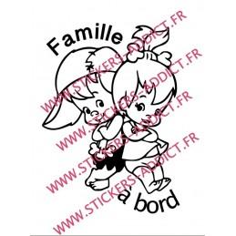 Sticker Famille à Bord