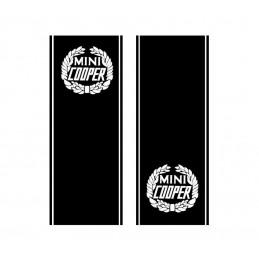 2 bandes de Capot Mini Cooper avec liserets