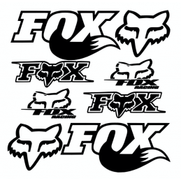 Kit de 8 Stickers Fox Racing